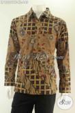 Olshop Baju Batik Premium Terlengkap, Sedia Kemeja Batik Tulis Halus Lengan Panjang Full Furing Motif Kekinian Hanya 600 Ribuan [LP13201TF-XL]