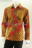 Baju Batik Mewah Untuk Pria Yang Menunjang Penampilan Jadi Sempurna, Kemeja Lengan Panjang Tulis Daleman Full Furing Khas Solo [LP13202TF-XL]