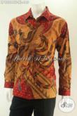 Baju Batik Premium Untuk Pria Kantoran Menunjang Penampilan Berkelas Bak Eksekutif, Kemeja Lengan Panjang Batik Tulis Asli Full Furing Asli Buatan Solo [LP13204TF-XL]