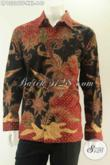 Kemeja Batik Istimewa Spesial Untuk Lelaki Gemuk, Baju Batik Tulis Asli Model Lengan Panjang Full Furing, Pas Banget Untuk Kondangan Dan Acara Formal [LP13206TF-XXL]