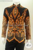 Jual Kemeja Batik Kerah Shanghai Motif Elegan Khas Jawa Tengah, Baju Batik Pria Model Koko Kwalitas Istimewa Dengan Harga Biasa [LP13216PBK-L]