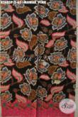 Kain Batik Bahan Busana Wanita Masa Kini, Batik Solo Printing Motif Mawar Pink, Cocok Untuk Seragam Kantor Dan Baju Acara Resmi [K3685P-200x110cm]