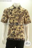 Olshop Baju Batik Khas Solo Terlengkap, Jual Kemeja Pria Lengan Pendek Motif Keren Bahan Halus Yang Nyaman Di Pakai, Penampilan Lebih Modis Dan Terlihat Tampan [LD13274P-XL]