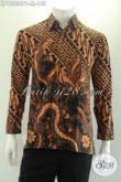 Olshop Baju Batik Solo Koleksi Paling Up To Date, Sedia Kemeja Kerja Lengan Panjang Motif Elegan Nan Berkelas, Cocok Juga Untuk Acara Resmi [LP13238PB-M]