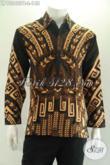 Kemeja Batik Solo Lengan Panjang Kwalitas Bagus Motif Paling Baru Yang Banyak Di Cari, Bikin Penampilan Pria Lebih Gagah Berkelas [LP13240PB-L]