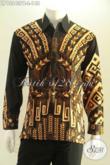 Kemeja Batik Untuk Pria Muda Dan Dewasa Model Lengan Panjang Motif Unik Jenis Print Cabut, Kwalitas Bagus Namun Dengan Harga Terjangkau [LP13243PB-L]