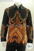 Baju Batik Pria Dewasa Desain Berkelas Berpadu Motif Elegan Dan Kekinian, Kemeja Batik Lengan Panjang Khas Jawa Tengah Yang Menunjang Penampilan Makin Tampan [LP13245PB-XL]