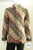 Kemeja Batik Motif Parang Lengan Panjang Desain Elegan Dan Berkelas, Spesial Untuk Pria Yang Berbadan Gemuk [LP13249PB-XXL]
