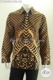 Kemeja Batik Elegan Model Lengan Panjang Motif Klasik Kwalitas Bagus Berbahan Halus Nyaman Di Pakai Harian, Cocok Untuk Pria Gemuk [LP13250PB-XXL]