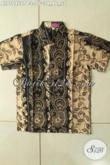 Model Baju Batik Anak Laki-Laki Motif Klasik, Pakaian Batik ELegan Berkelas Lengan Pendek Proses Printing, Bisa Buat Acara Santai Dan Resmi [ALD10452PB-L]
