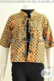 Balero Batik Desain Terkini, Busana Batik Wanita Masa Kini Motif Elegan Cocok Untuk Kerj Dan Acara Santai Bahan Halus Proses Printing Daleman Full Furing [BLR6382PF-S, M , L , XL]