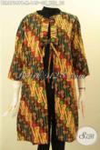 Outer Batik Buatan Solo Motif Modern Klasik, Busana Batik Balero Nan Modis Dengan Depan Bertali Bahan Adem Di Lengkapi Saku Dalam, Pilihan Tepat Tampil Bergaya [BLR8724PB-M]