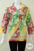 Motif Batik Gradasi Untuk Baju BAtik Wanita Modern Dan Elegan [BLS1077C-L]