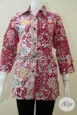 Batik Wanita Pekerja Kantor,Blus Batik Berkrah Untuk Wanita Elegan [BLS1351C-L]