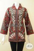Pusat Batik Klasik Wanita Di Solo, Sedia Atasan Batik Motif Klasik Proses Print Halus Harga Murmer [BLS2712P-XL]