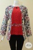 Baju Batik Wanita Pekerja Kantor,Model Batik Trendy Dan Masa Kini [BLS2846CD-M]