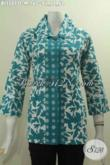 Baju Blus Elegan Desain Formal Dengan Kerah Benang Besar Berpadu Motif Mewah Dan Warna Bagus Proses Cap Untuk Penampilan Terlihat Istimewa [BLS5077C-M]