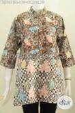 Blus Batik Yang Menunjang Penampilan Wanita Karir Lebih Istimewa, Baju Batik Kerah Shanghai Motif Bagus Proses Cap Asli Buatan Solo Hanya 160K [BLS5354C-L]
