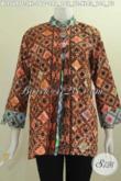 Baju Batik Wanita Dewasa Terbaru, Hadir Dengan Model Pias Kancing Besar Dengan Motif Dan Warna Elegan Untuk Tampil Berkelas Dan Terlihat Mewah [BLS5697C-XL]