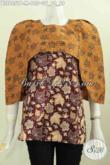 Batik Blus Wanita Model Terkini, Baju Batik Desain Trendy Bahan Halus Motif Elegan Untuk Tampil Gaya Dan Modis Proses Printing [BLS6051P-M]