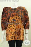 Blus Batik Motif Klasik Desain Trendy Kwalitas Istimewa Proses Printing Harga 125K [BLS6057P-XL]