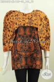 Toko Busana Batik Terlengkap, Sedia Blus Keren Motif Klasik Bahan Adem Desain Istimewa Yang Bikin Wanita Mempesona [BLS6058P-XL]