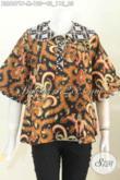 Batik Blus Kerah Bulat Proses Printing Model Terbaru Bahan Halus Harga 100 Ribuan [BLS6071P-M]