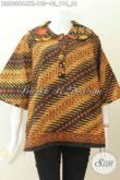 Baju Blus Batik Motif Klasik Istimewa, Busana Batik Jumbo Elegan Proses Cap Bahan Halus Kwalitas Istimewa Untuk Wanita Gemuk Penampilan Makin Berkelas [BLS6088C-XXL]