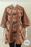 Aneka Pakaian Batik Buat Wanita Muda Dan Dewasa, Blus Batik Kerah Shanghai Motif Klasik Printing Hanya 140 Ribu [BLS6116P-XXL]
