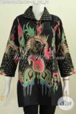 Blus Batik Jumbo Kerah Kotak, Pakaian Batik Formal Untuk Kerja Dan Rapat Bahan Halus Proses Tulis [BLS6208T-XXL]