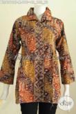Pakaian Batik Trendy Desain Keren Kerah Kotak Motif Bagus Buatan Solo Proses Cap Tulis [BLS6212CT-M]
