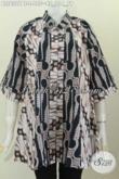 Jual Online Busana Batik Berkelas, Pakaian Batik Modern Untuk Tampil Gaya Dan Elegan Harga 155K Model Kerah Shanghai Motif Klasik [BLS6321BT-L]