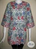 Blouse Batik Wanita Modern Lengan 3/4 Untuk Kerja Kantor [BLS632CB-S]