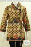 Pakaian Batik Jawa Tengah, Busana Batik Blus Kerah Miring Halus Motif Mewah Harga Murah Proses Printing [BLS6369P-M , L]