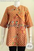 Baju Blus Batik Desain Kombinasi Rompi, Busana Batik Elegan Motif Berkelas Cocok Untuk Kerja Kantoran [BLS6385P-S]