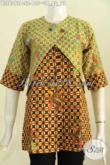 Busana Batik Wanita Buatan Solo, Baju Blus Kombinasi Rompi Trend Mode Terkini Untuk Penampilan Lebih Istimewa Hanya 100 Ribuan [BLS6392P-S]