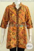 Toko Pakaian Batik Online, Jual Blus Lengan Pendek Model Deck Bahan Adem Proses Printing Kwalitas Istimewa Untuk Tampil Modis Bergaya [BLS6399P-XL]