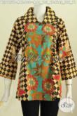 Sedia Busana Batik Modern Masa Kini, Pakaian Batik Kekinian ModelBenang Besar Motif Elegan Proses Printing Harga 130K [BLS6657P-M]