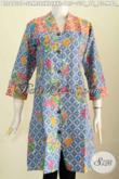 Baju Atasan Wanita Bahan Batik Modis Keren Kwalitas Halus Motif Terkini Proses Printing Dengan Kombinasi 2 Warna Untuk Tampil Bergaya [BLS6730P-M]