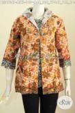 Pusat Baju Batik Online, Sedia Baju Batik Atasan Modern Desain Jas Untuk Penampilan Makin Istimewa Berbahan Adem Asli Dari Solo [BLS6734P-M , L, XL]