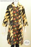 Jual Baju Batik Atasan Perempuan Model Terkini, Busana Batik Wanita Muda Untuk Tampil Gaya Dan Berkelas Bahan Adem Hanya 100 Ribuan [BLS6755BT-M]