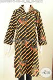 Pakaian Batik Motif Slarak Size XL, Baju Batik Kerja Wanita Modern 2020 Bahan Adem Nyaman Di Pakai Motif Mewah Kombinasi Tulis [BLS6768BT-XL]