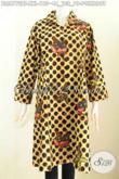 Baju Batik Jumbo Motif Polkadot, Model Baju Batik Wanita Untuk Orang Gemuk Bahan Halus Proses Kombinasi Tulis Hanya 195K [BLS6772BT-XXL]
