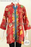 Model Baju Atasan Wanita Dari Batik, Blus Keren Modis Untuk Wanita Dewasa Yang Ingin Tampil Beda Dan Bergaya [BLS6980P-XL]