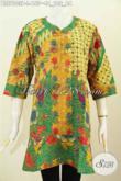 Pakaian Batik Kerja Wanita Kwalitas Bagus Motif Mewah Proses Printing Desain Krah Paspol Untuk Penampilan Lebih Istimewa [BLS7003P-L]