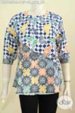 Sedia Baju Batik Cewek Modis, Blus Batik 2 Warna Kwalitas Bagus Harga 165K Model Silang Trend Mode Masa Kini [BLS7055C-L]