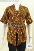 Batik Blus Klasik Model Kutubaru, Baju Batik Wanita Muda Dan Remaja Putri Proses Cap, Penampilan Lebih Kekinian Dan Seksi [BLS7085C-S]