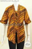 Batik Blus Elegan Klasik Model Kutubaru Bahan Adem Proses Cap Kwalitas Istimewa Yang Bikin Penampilan Lebih Istimewa [BLS7087C-L]