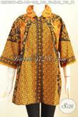 Jual Online Batik Blus Etnik Berkelas, Baju Batik Kerha Bulat Kwalitas Bagus Proses Printing, Menunjang Penampilan DiKantor [BLS7231P-XL]