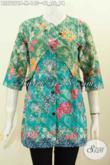Produk Terbaru Blus Batik Dua Warna, Pakaian Batik Printing Size M Model Kombinasi Rompi Sambung, Tampil Gaya Dan Modis [BLS7276P-M]